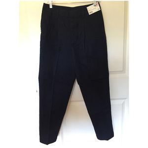 Uniqlo Pleat Front Cotton Twill Chino Pants